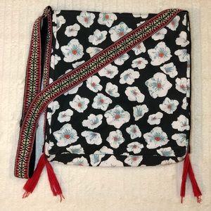 Guitar Strap Boho Floral Crossbody Bag-Purse